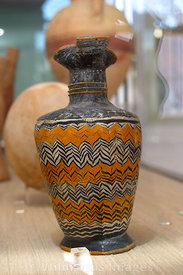 Punic Oinochoe held perfume oil; Carthage Museum, Tunis, Tunisia; Portrait