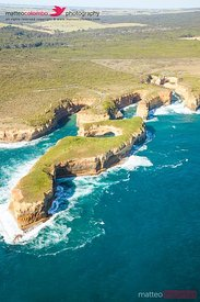 Aerial view of twelve apostles coast, Australia