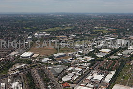 Birmingham high level aerial photograph of the Hub Nobel Way Witton