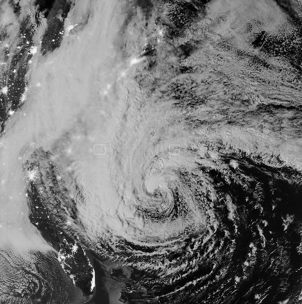 EARTH USA -- 28 Oct 2012 -- Satellite image of Hurricane Sandy