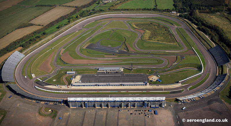 aerial photograph of Rockingham Motor Speedway Corby Northamptonshire England UK