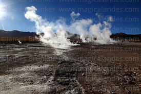 El Tatio geyser field, Region II, Chile