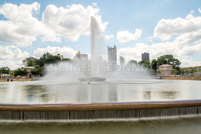Point Park Fountain and Skyline- Pittsburgh, PA