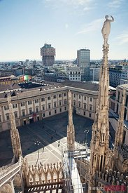 Milan cityscape from the Duomo, Italy