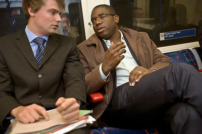 UK - London - David Lammy MP on public transport