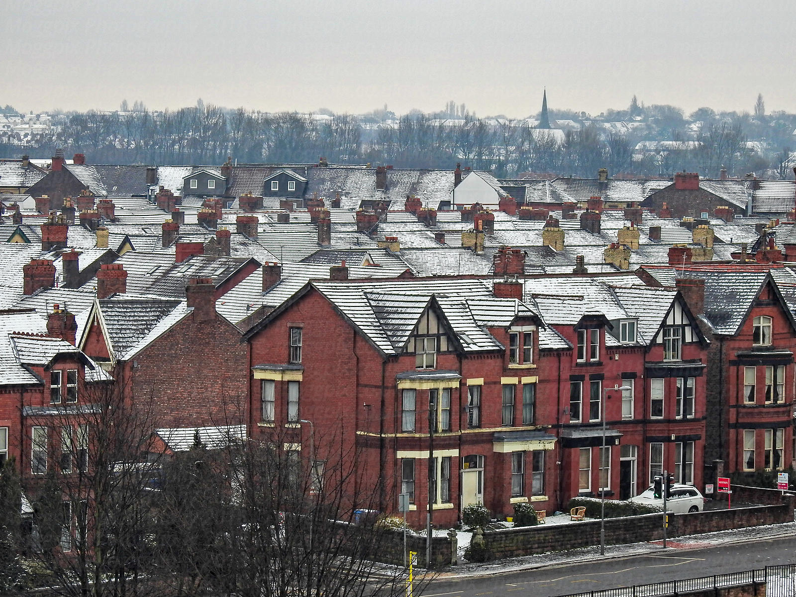 Snowy Rooftops in Liverpool