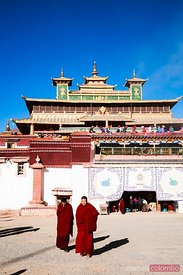 Buddhist monks, Samye monastery, Tibet, China