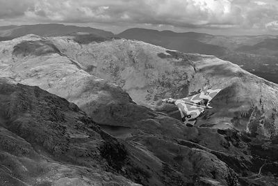 Vulcan low-level in the Lakes B&W version