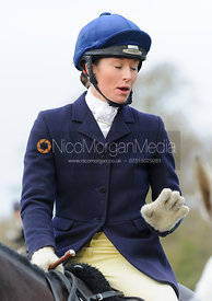 Harriet Rimmer at the meet at Goadby Hall - The Belvoir Hunt at Goadby Hall 24/12