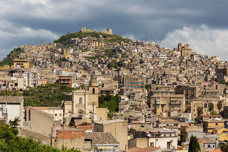 Skyline of the Hill Town of Agira