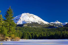 Mt Lassen from Manzanita Lake #3