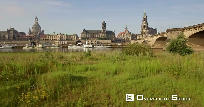 Elbe River and the Historic Capital City Dresden Germany