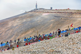 The Peloton on Mont Ventoux
