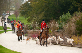 Jamie Nicklin and the Meynell and South Staffordshire hounds.