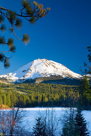 Mt Lassen from Manzanita Lake #4