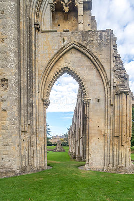 Entry to Main Church, Glastonbury Abbey- Glastonbury, England
