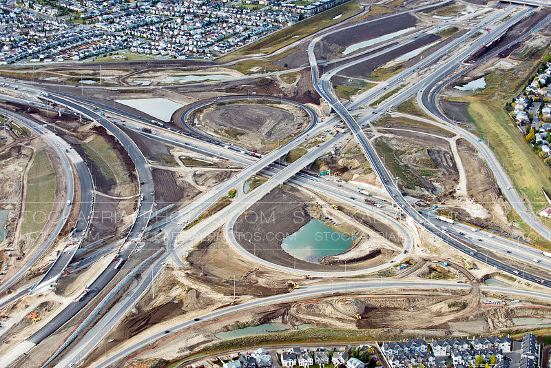 Stoney Trail Ring Road and Highway 2 (Deerfoot) interchange, Calgary Alberta