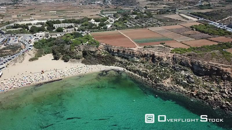 Drone Video Golden Bay IrRamla talMixquqa Malta