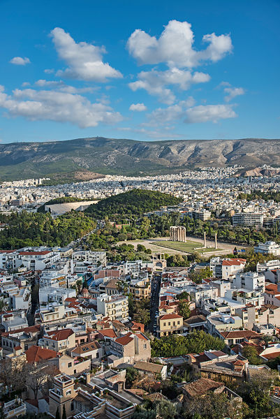 Views over Athens Greece