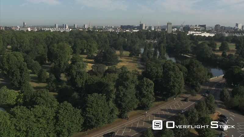 Drone Video Hyde Park Serpentine Gallery London UK