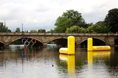 Marker Buoys for the Triathlon in Hyde Park