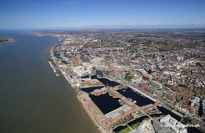 Liverpool aerial photo of Londons
