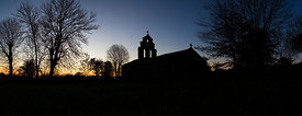 Montbonnet chapel at dawn