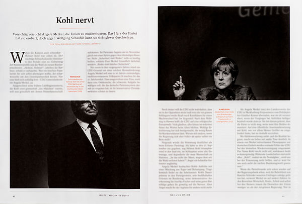 Angela Merkel in Spiegel-Biografie photos