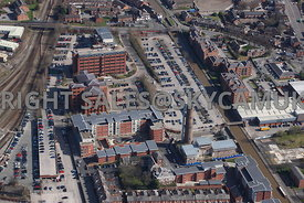 Chester aerial photograph of the developments along side the Shropshire Union Canal The Lead Works and Llyods Banking Group Chester