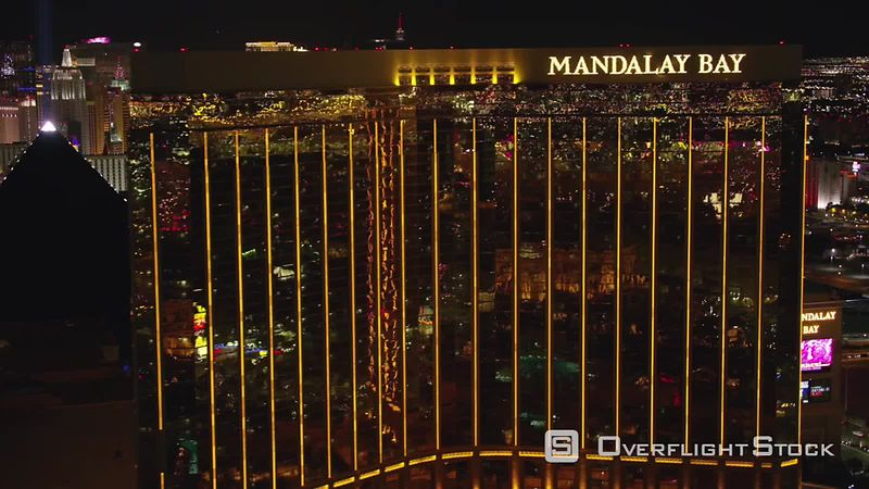 Las Vegas, Nevada Reveal Las Vegas Strip from Mandalay Bay.  Shot with Cineflex and RED EpicW Helium.
