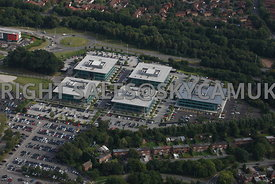 Warrington aerial photograph of new office development on Birchwood Park