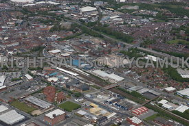 Bolton aerial photograph of the area surrounding the Orlando Halls of Residence Thynne Street Coe Street Bridgeman Street and Lever Street