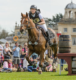 Sandra Auffarth and  OPGUN LOUVO - Cross Country - Mitsubishi Motors Badminton Horse Trials 2013.