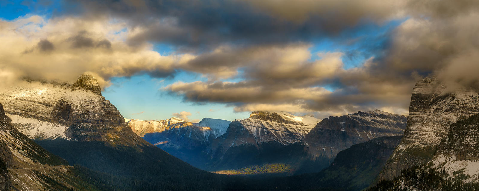 Logan Pass Sunset Panorama