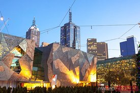 Melbourne, Australia. Federation square at dawn