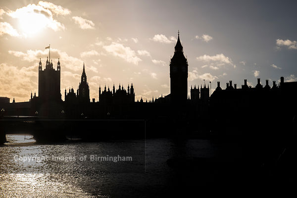The Palace of Westminster. The meeting place of the House of Commons and the House of Lords, the two houses of the Parliament of the United Kingdom.