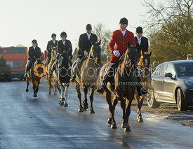 Nicholas Leeming on Leesthorpe Road - The Cottesmore Hunt at Pickwell Manor 28/12