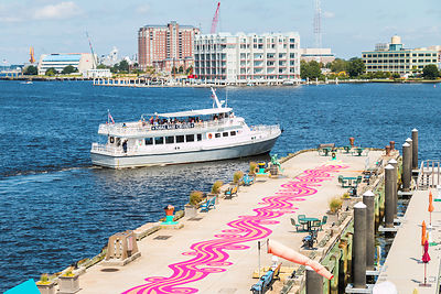 The Magenta Line - Pier Mural 08.22.18 photos