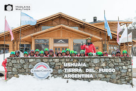Das Swiss Snow Demo Team in Cerro Castor.
