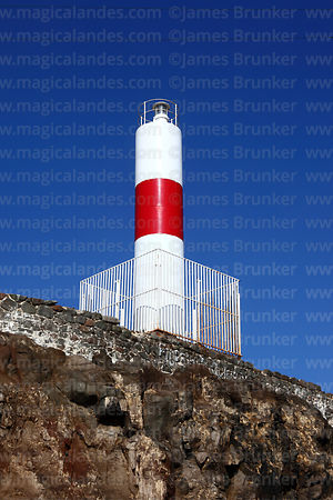 Lighthouse on Alacrán Island, Arica, Region XV, Chile