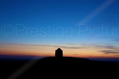 Sunset at Burton Dassett with the Beacon