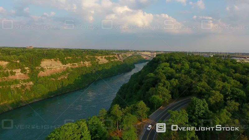 Aerial Views Of Niagara Gorge At Sunset and Surrounding Countryside