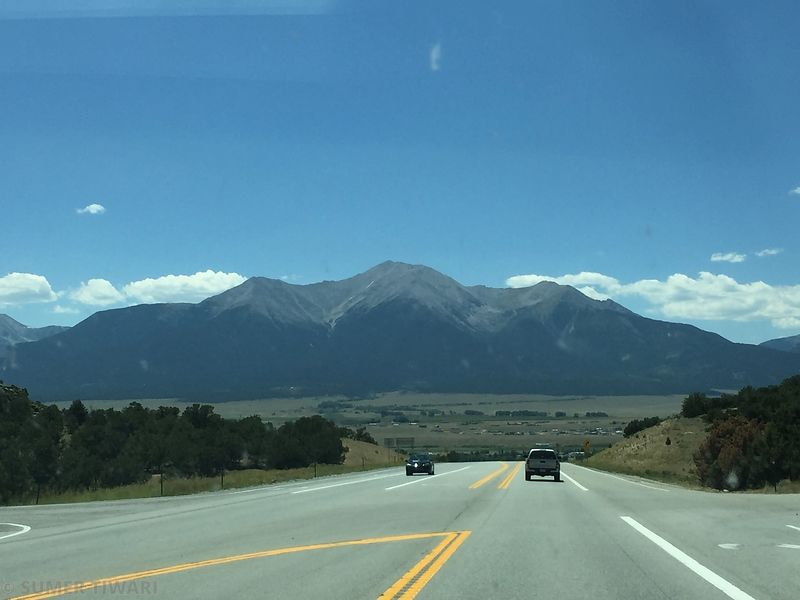 While driving to Lake City, we got see the presidential peaks near Buena Vista. This gigantic mountain is Mount Princeton.