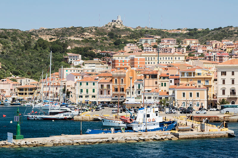 The Port Town of La Maddalena from the Palau Ferry