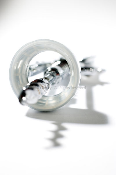 Abstract view of a corkscrew bottle opener