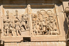 Relief on the Arch of Constantine, Rome, Italy; Landscape