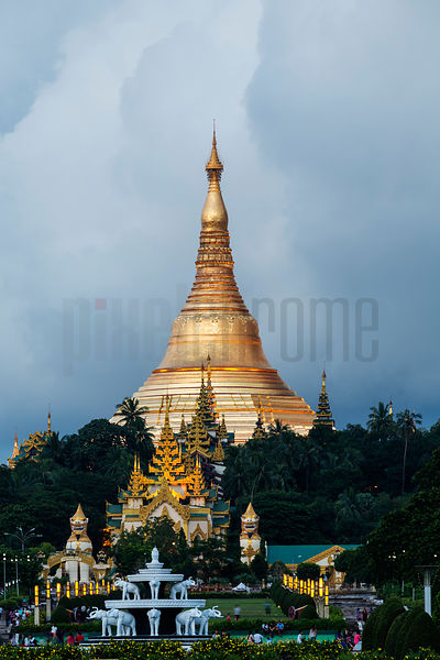 Schwedagon Pagoda at Dusk