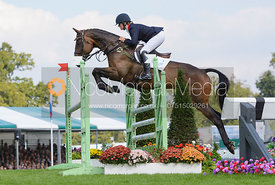 Piggy French and WESTWOOD MARINER - show jumping phase, Burghley Horse Trials 2014.