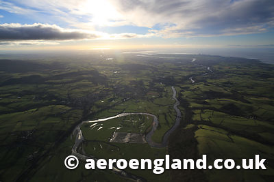 aerial photograph of the River Lune  Lancashire England