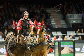 Bordeaux, France, 4.2.2018, Sport, Reitsport, Jumping International de Bordeaux - FEI WORLD CUP™ DRIVING FINAL - 2nd ROUND. Bild zeigt Jerome VOUTAZ (SUI)...4/02/18, Bordeaux, France, Sport, Equestrian sport Jumping International de Bordeaux - FEI WORLD CUP™ DRIVING FINAL - 2nd ROUND. Image shows Jerome VOUTAZ (SUI).